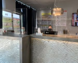 Reception Area with Protective Shields
